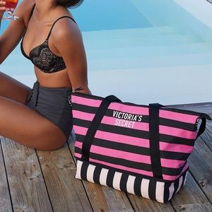 Brand new strip Victoria's Secret weekender bag